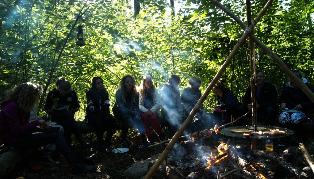 Friluftsliv og morgenmad i naturen