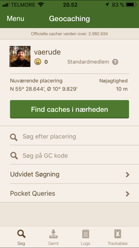 Geocaching med smartphone - vaerude.dk